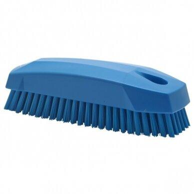 Šepetėlis odos ir tekstilės valymui, 130 mm, mėlynas, Vikan