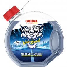 """Žieminis langų apiplovimo skystis paruoštas naudoti  """"WINTER BEAST"""",SONAX  -20°C 3L"""